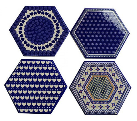 Coasters Tile Blue