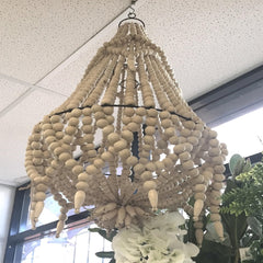 Chandelier Metal and Wooden Beads