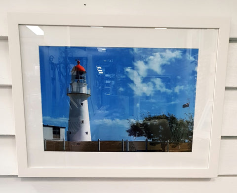 Framed Photography Bustard Head Lighthouse Buildings