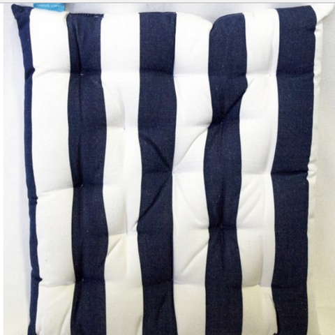 Chair Pad Navy & White