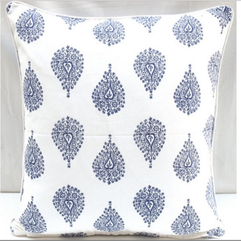 Cushion CS COVER ONLY Ornamental Blue