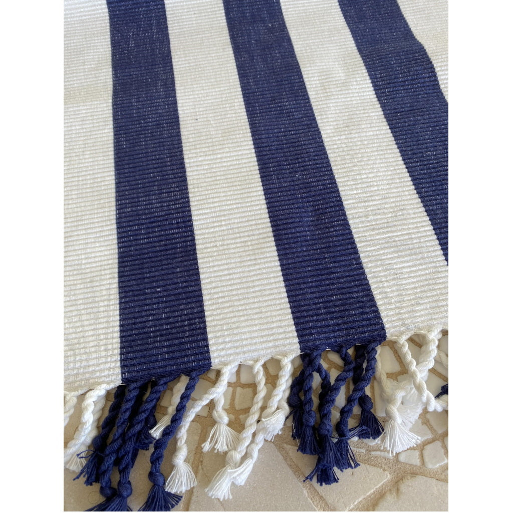 Table Runner Mode Navy and White 34x180cm