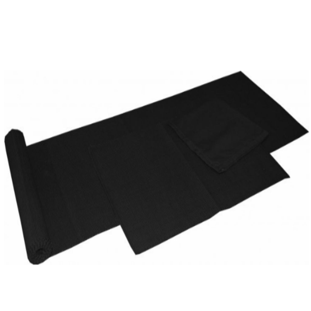 Table Runner Black 34x180cm