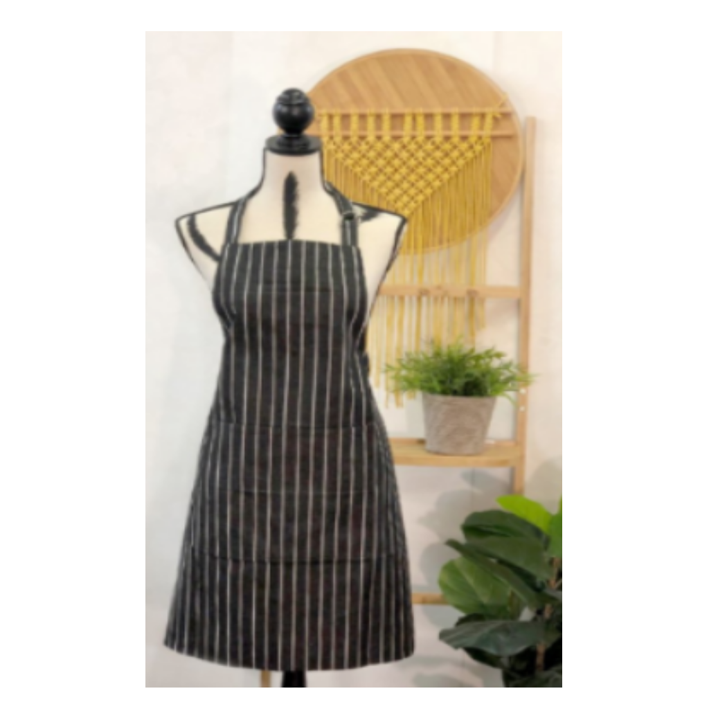 Apron Regatta Charcoal and White