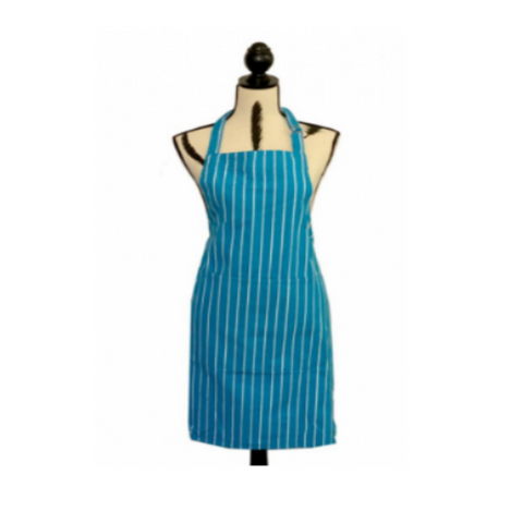 Apron Regatta Turquoise and White