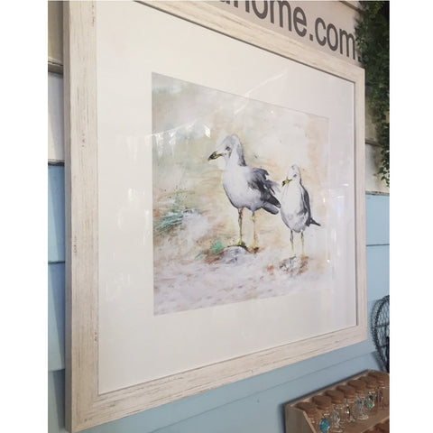 Framed Print CF Seagulls on the Beach