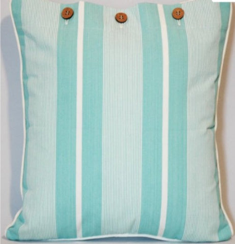 Cushion CS COVER ONLY AQ Finley Sea Green
