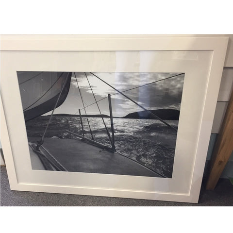 Framed Photography Rough Seas B&W