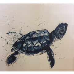 Framed CF Blue Turtle Art Work