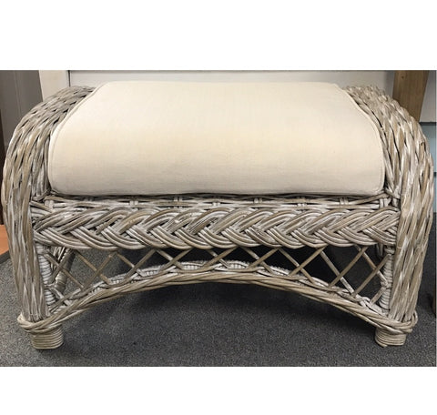 Footstool Olympia Grey White Wash