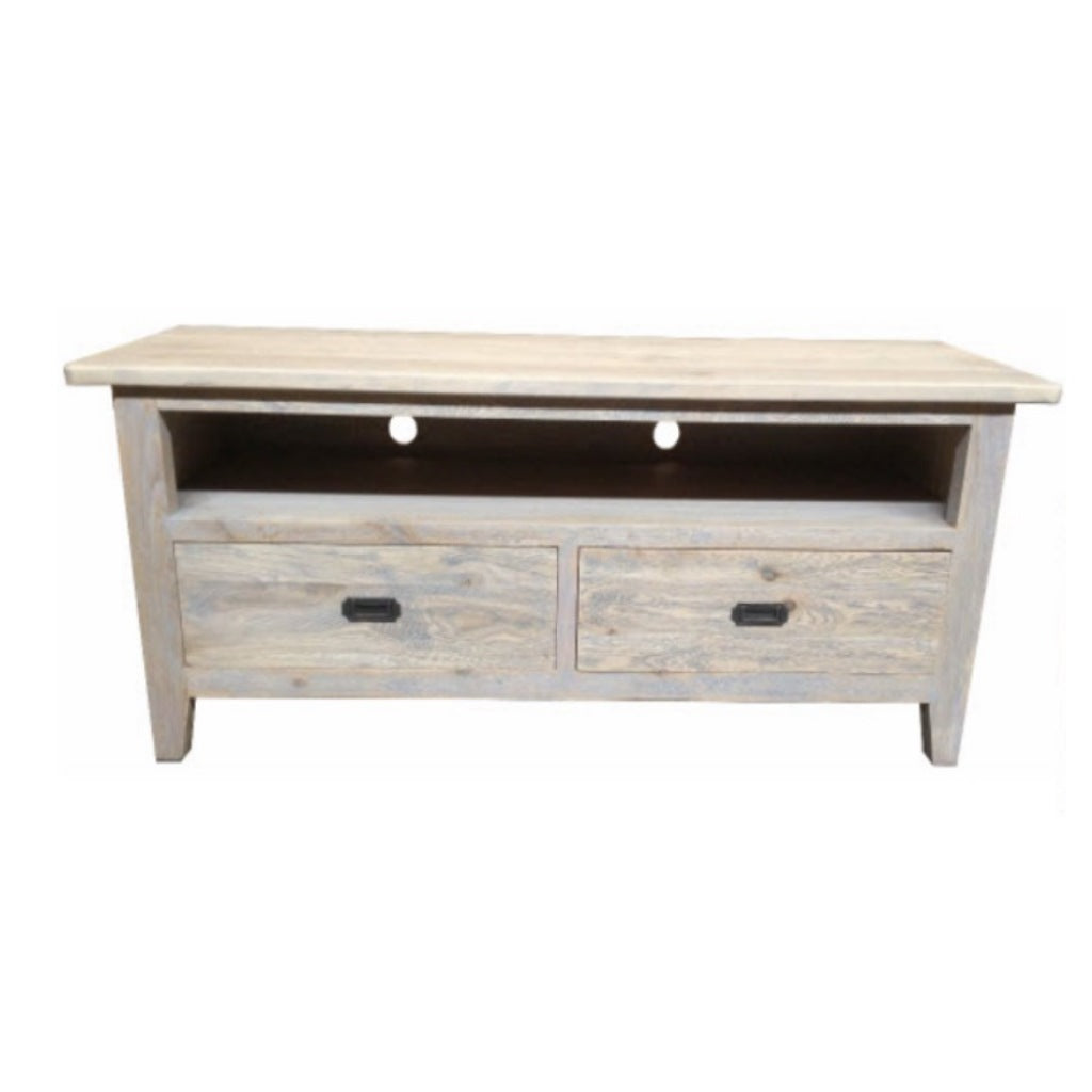 Hampton Oak Grey Washed 2D TV Unit