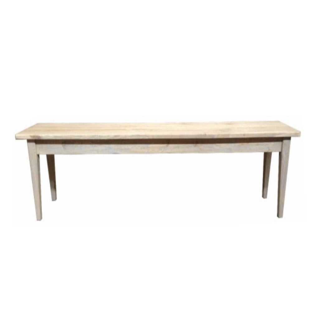 Hampton Oak Grey Washed Bench Seat