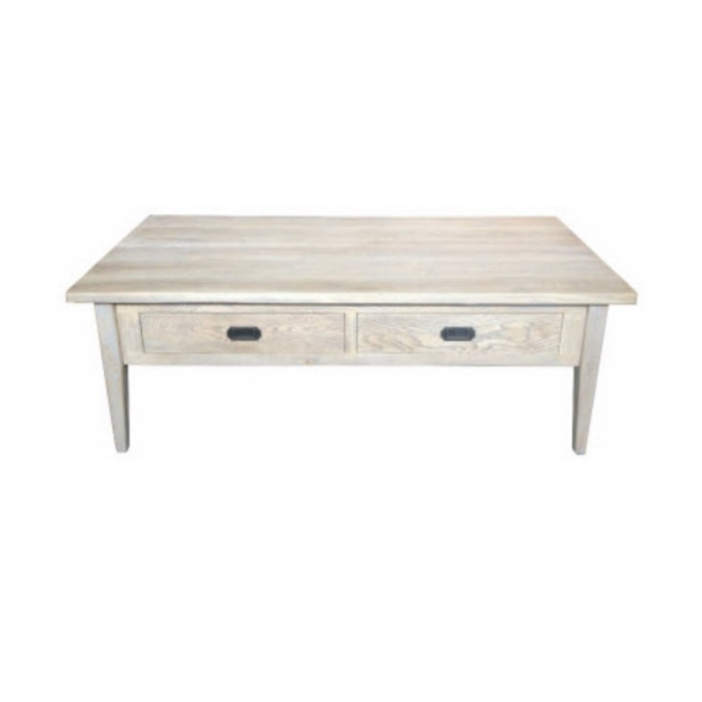 Hampton Oak Grey Washed 2D Coffee Table