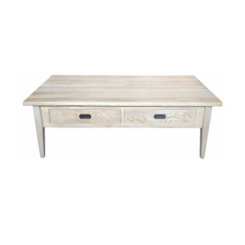 Coffee Table Hampton Oak Grey Washed 2D