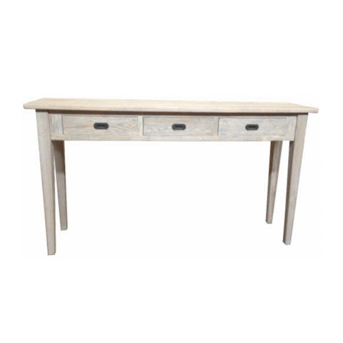 Hampton Oak Grey Washed Hall Table 3D