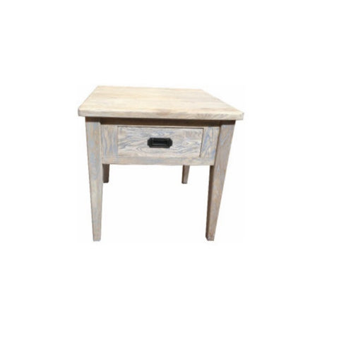Hampton Oak Grey Washed Side Table