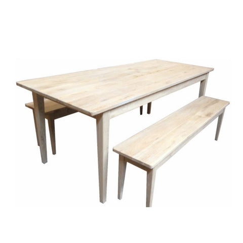 Hampton Oak Grey Washed Table