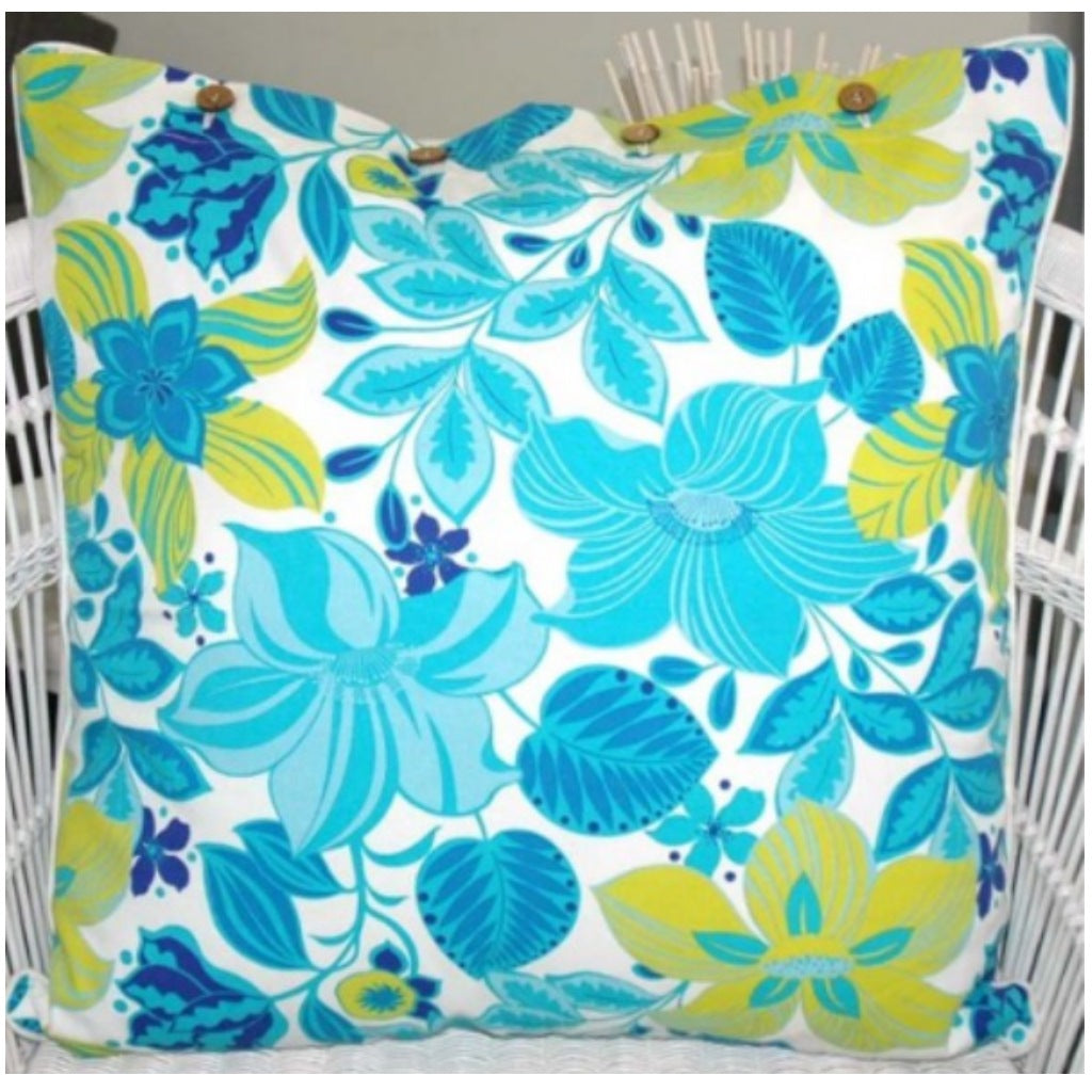 Cushion CS COVER ONLY AQ Hibiscus Aqua