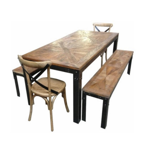 Iron and Timber Dining Table