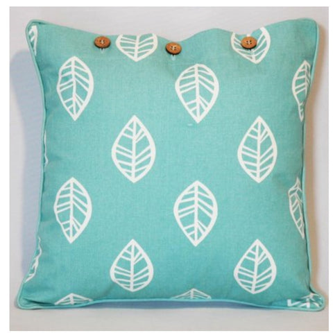 Cushion CS COVER ONLY AQ Leaf Sea Green Wash