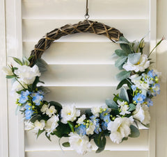 Wreath Lisianthus and Jasmine Blue