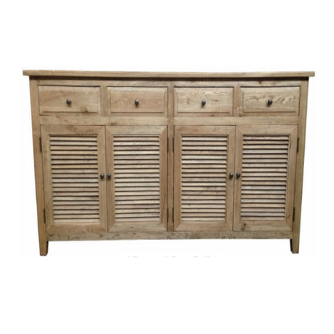 Louvre Oak 4 Draw 4 Door Buffet