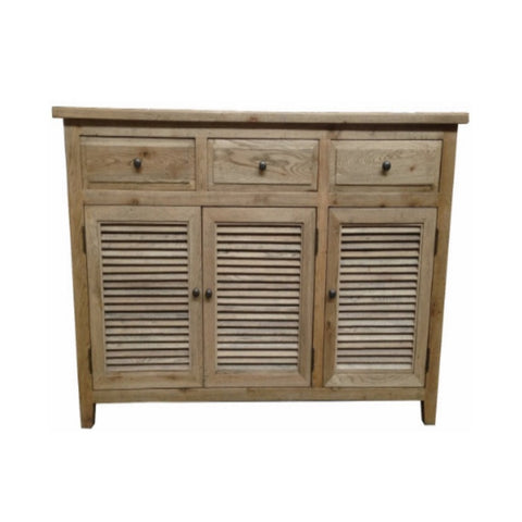 Louvre Oak 3 Draw 3 Door Buffet
