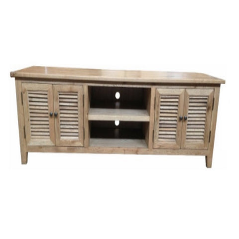 Louvre Oak 4 Door Entertainment Unit