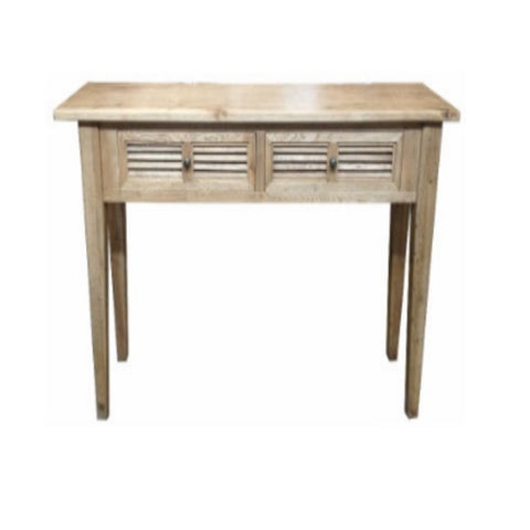 Louvre Oak 2 Draw Hall Table