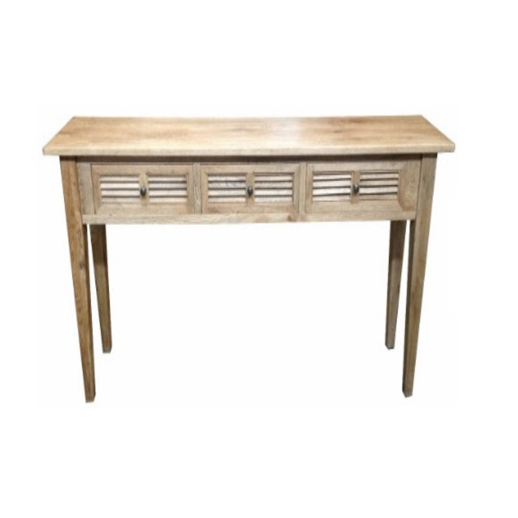 Louvre Oak 3 Draw Hall Table