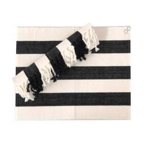 Table Runner Black and White 34x180cm