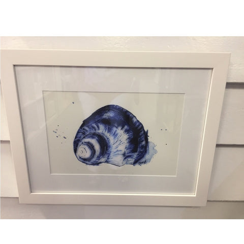Framed Print Blue Shell