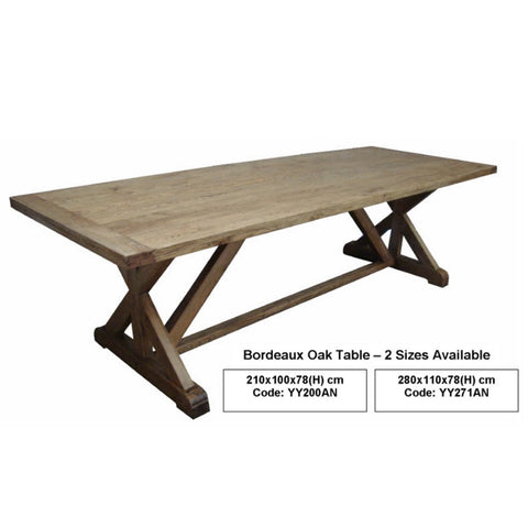 Bordeaux Oak Dining Table