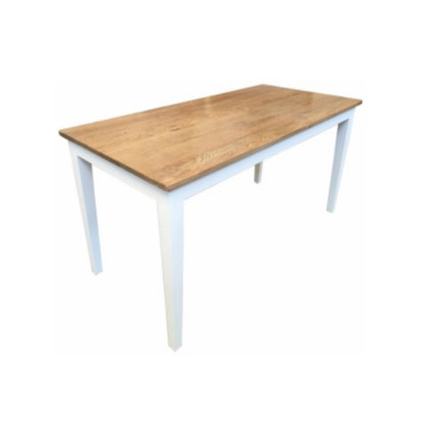 Table Oak Natural Top White Base