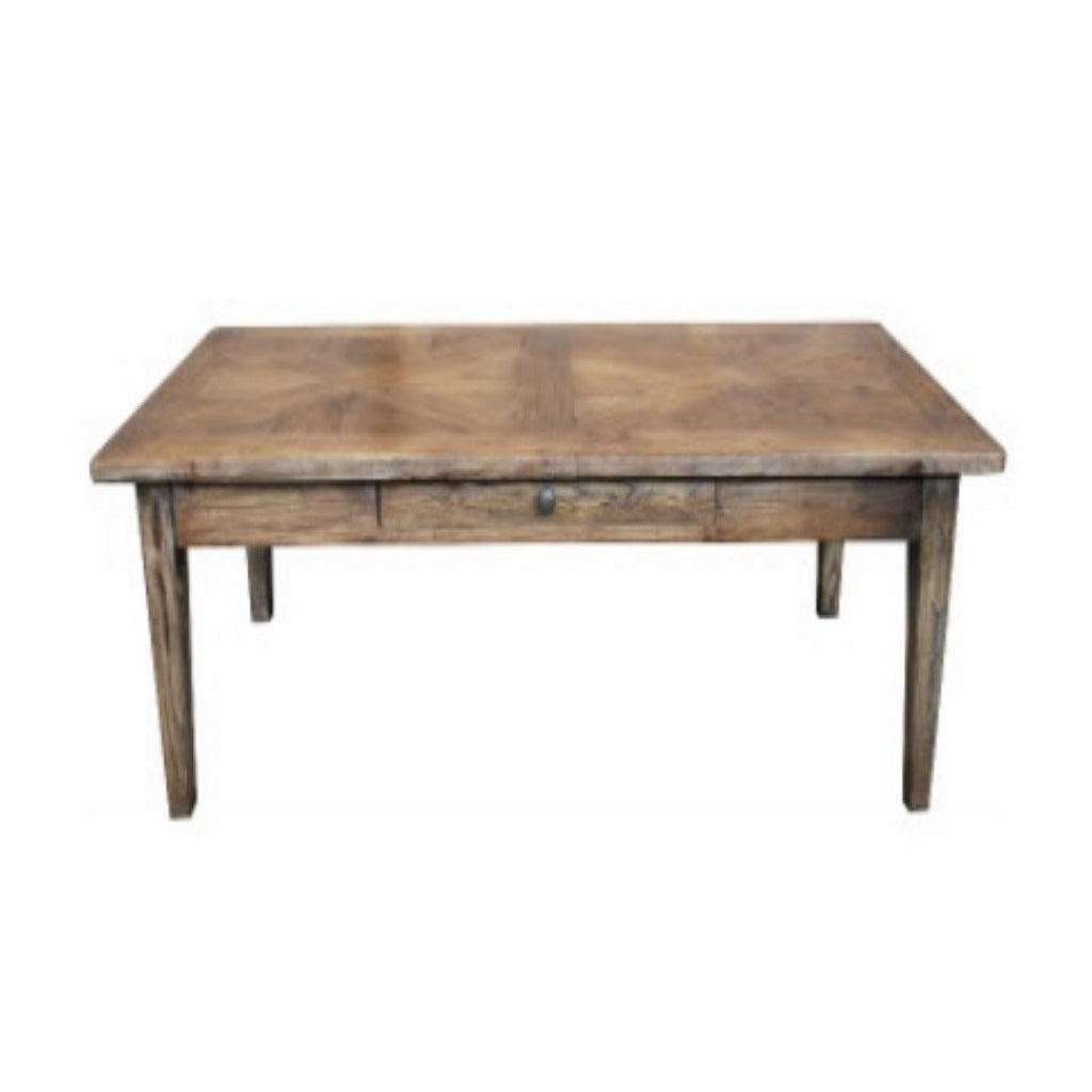 Recycled Elm Parquetry Coffee Table