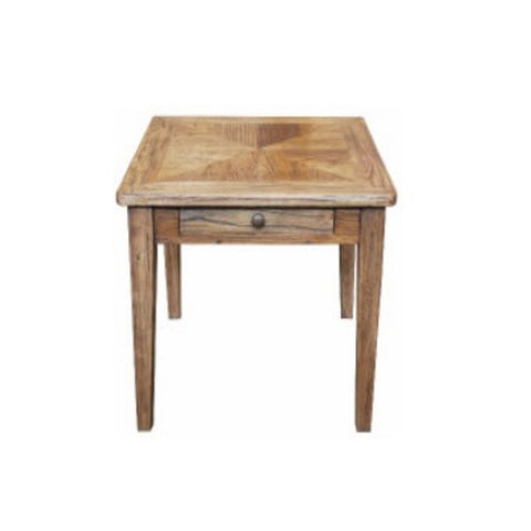 Recycled Elm Parquetry Side Table