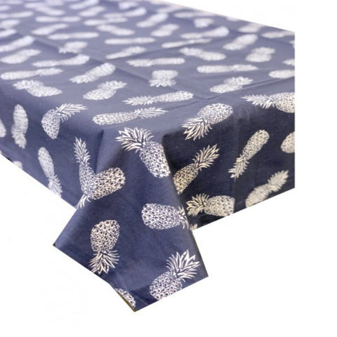 Tablecloth BL Coated Blue Pineapple