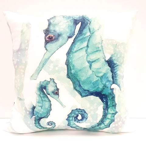 Cushion CD Cover Only AQ Aqua Seahorse and Baby
