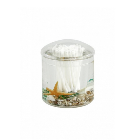 Shell Acrylic Cotton Bud Holder