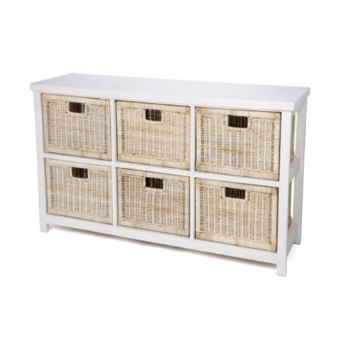 Cabinet 6 Basket Natural