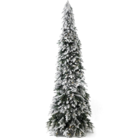 Tree Snow DD Pencil Tree 9 foot