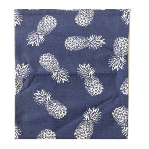 Tea Towel Pineapple Blue