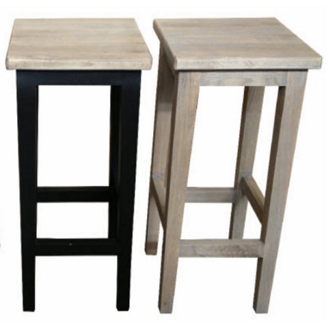 Stool Oak with Grey Wash Seat