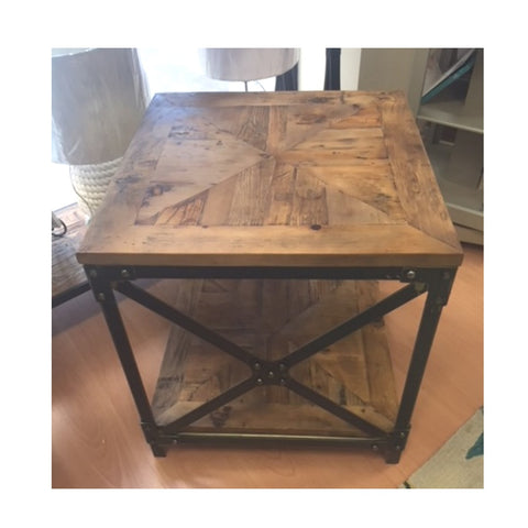 Iron & Recycled Timber Side Table