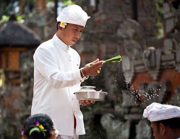 Balinese Priest for Hindu Blessing