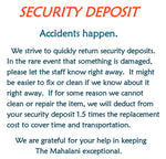 Refundable Security Deposit for Accommodation