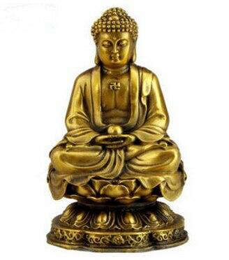 Statue Bouddha<br>  Méditation Or - 20X12X12