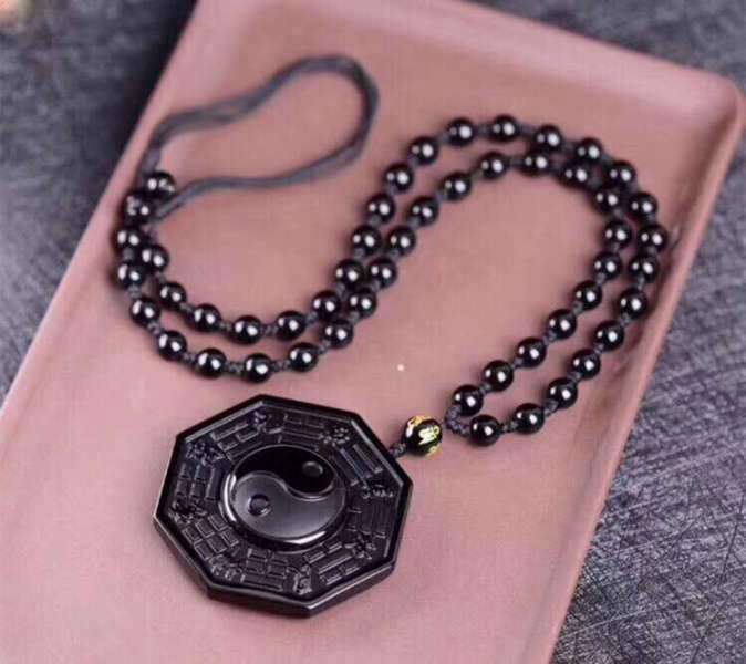 Pendentif Bouddha<br> Obsidienne Yin Yang - [variant_title]