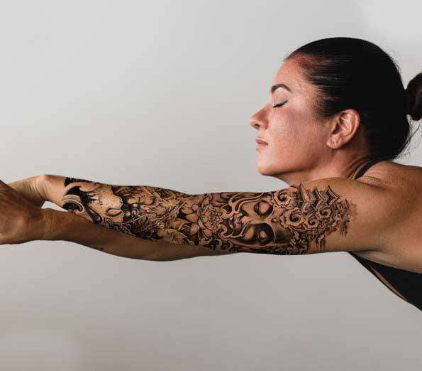 Tatouage Bouddha bras<br> Temple Bouddha Lotus - [variant_title]