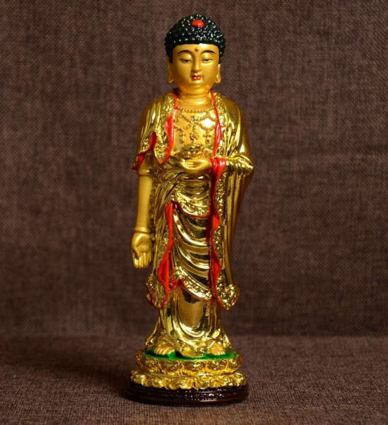 Statue Bouddha Shakyamuni<br> debout OR - [variant_title]